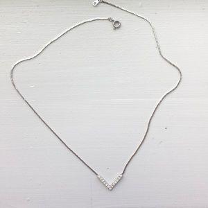 Short V Swarovski necklace